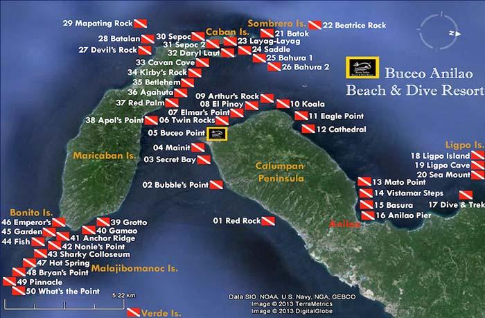 Anilao-Dive-Sites-Map